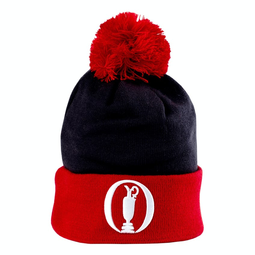 The Open New Era Beanie Hat - Navy and Red 0