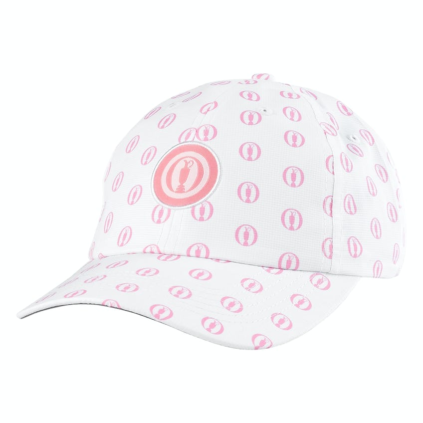 The Open Youth Fit Baseball Cap - White and Pink 0