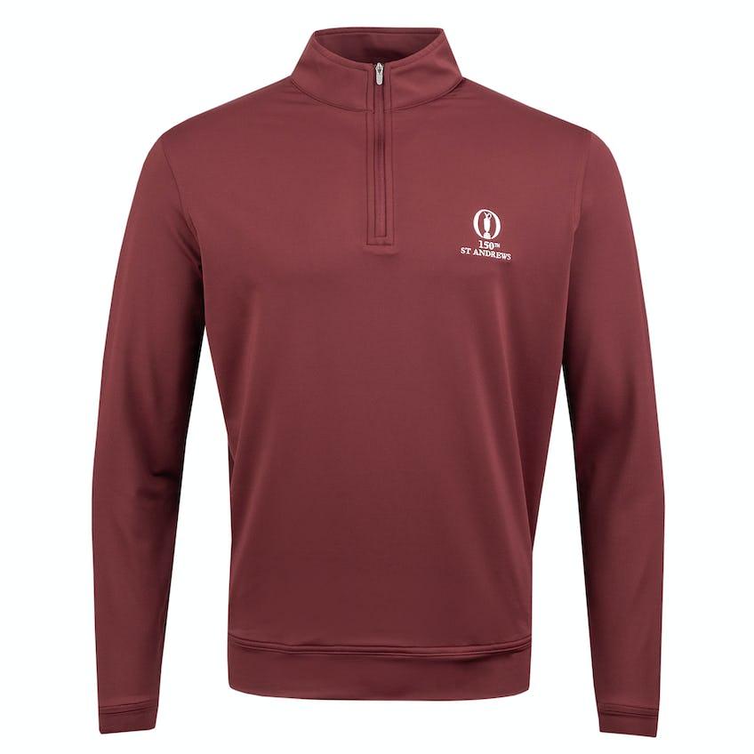 150th St Andrews Zip-Neck Layer Sweater - Burgundy 0