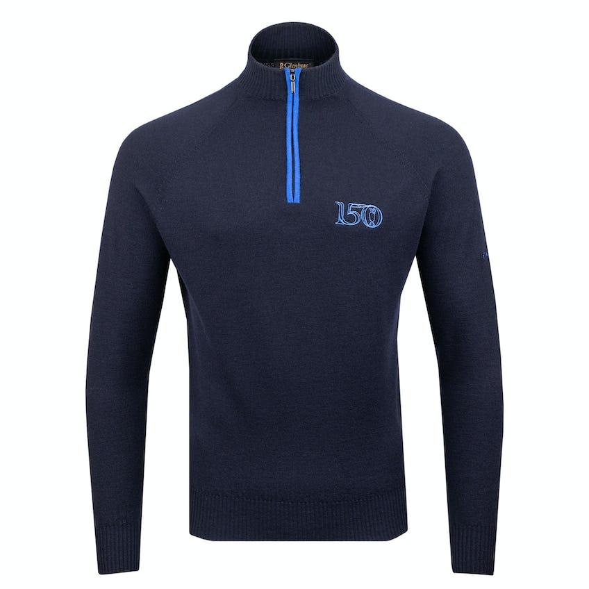 Commemorative 150th Open Glenbrae Zip-Neck Sweater - Navy 0