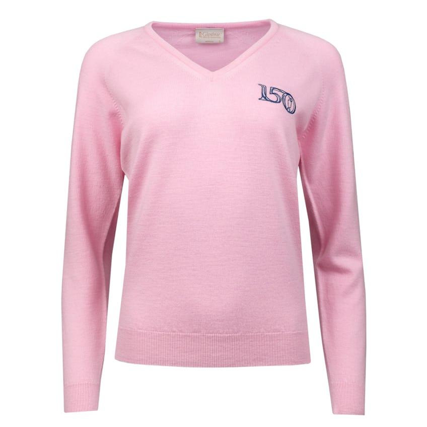 Commemorative 150th Open Glenbrae V-Neck Sweater - Pink 0