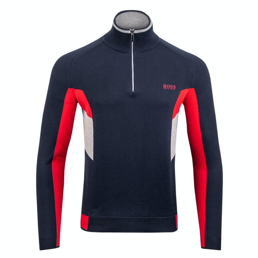 Commemorative 150th Open BOSS Zip-Neck Layer Sweater - Navy and Red 0