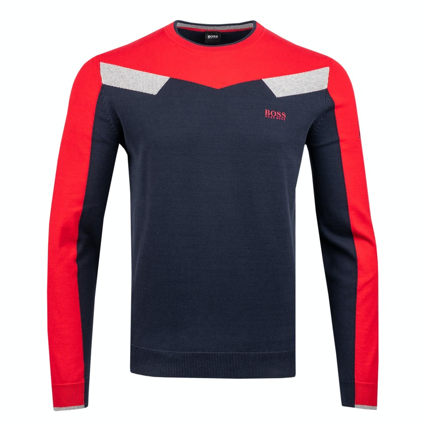 Commemorative 150th Open BOSS Crew-Neck Layer Sweater - Navy and Red 0