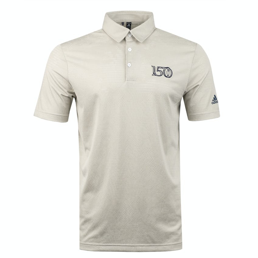 Commemorative 150th Open adidas Polo Shirt - White and Grey 0