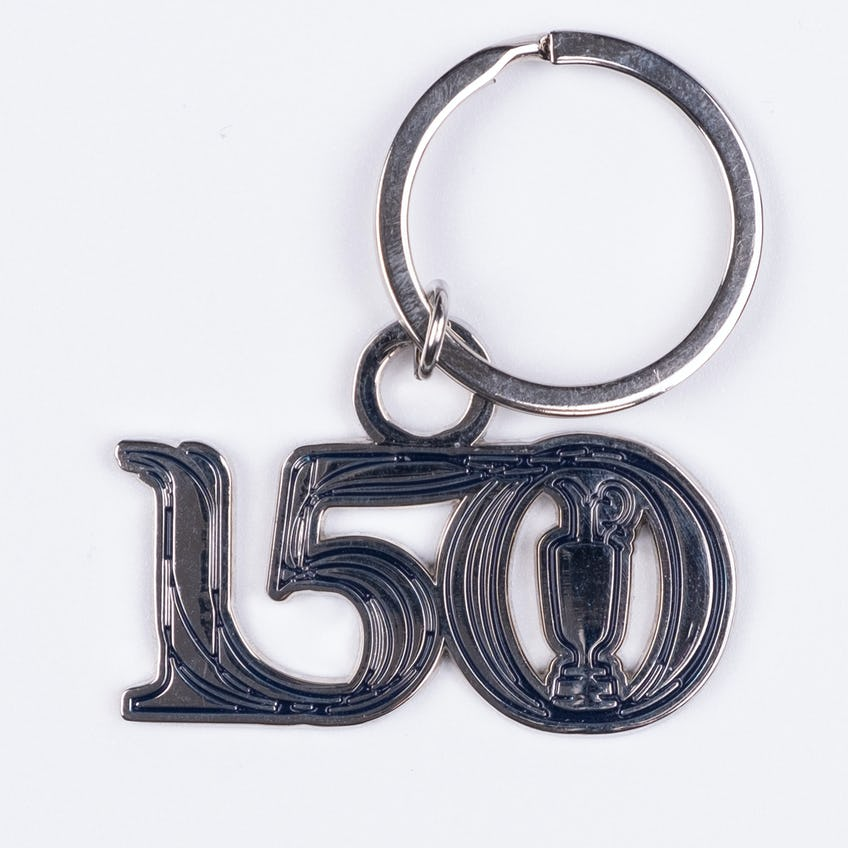 Commemorative 150th Open Metal Keyring - Silver and Navy 0