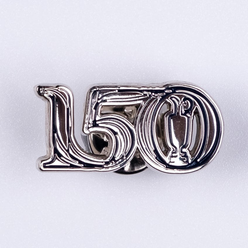 Commemorative 150th Open Lapel Pin - Silver and Navy 0