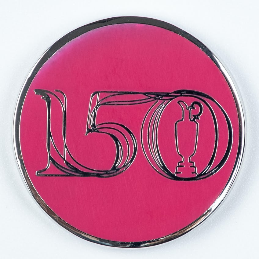 Commemorative 150th Open Two-Sided Collector's Coin - Pink 0