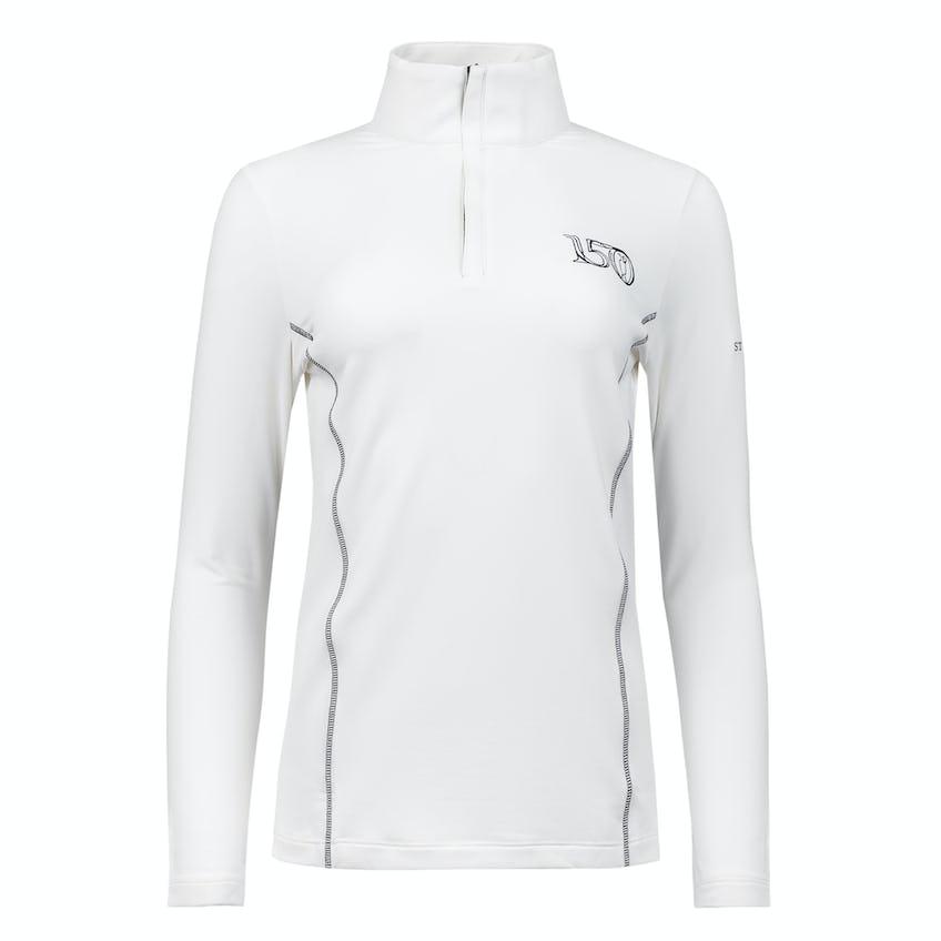 Commemorative 150th Open Zip-Neck Layer Sweater - White and Black 0