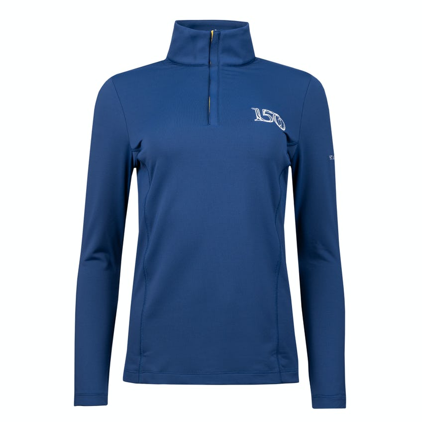 Commemorative 150th Open Zip-Neck Layer Sweater - Navy 0