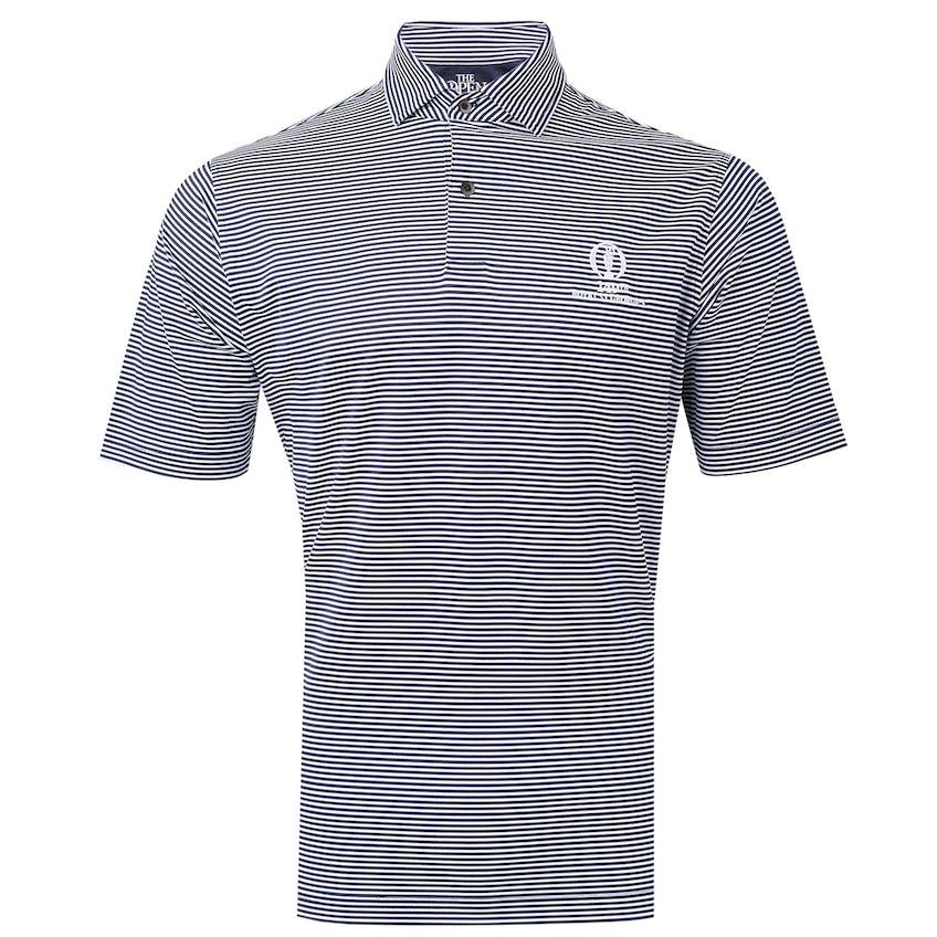 149th Royal St George's Fairway & Greene Striped Polo Shirt - Orange and Blue 0