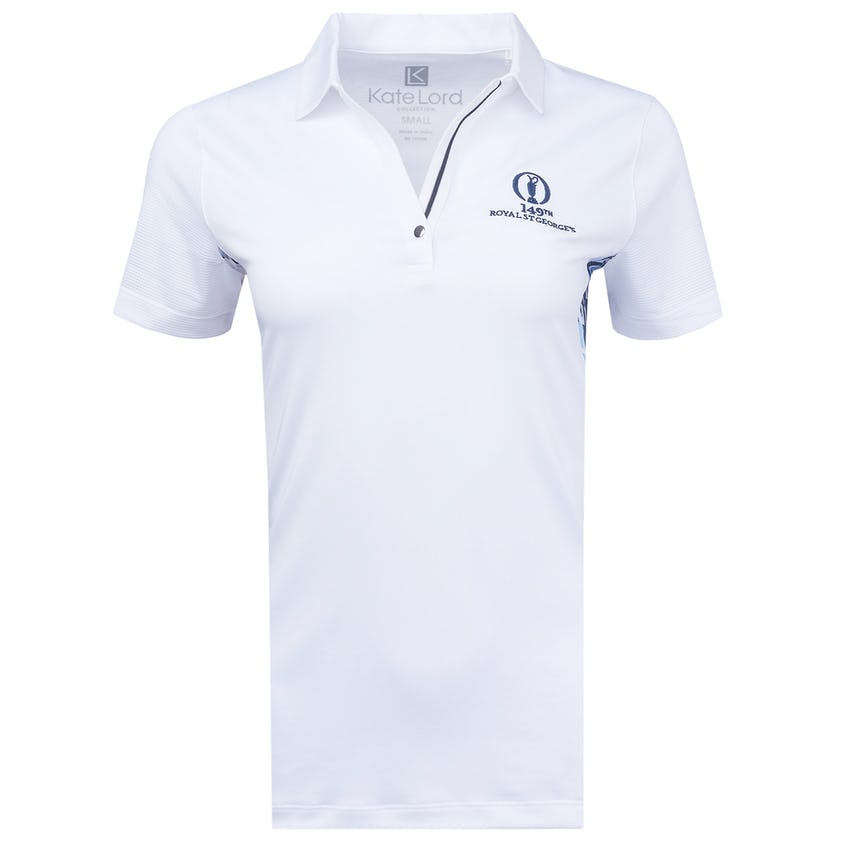 149th Royal St George's Polo Shirt - White, Navy and Pink 0