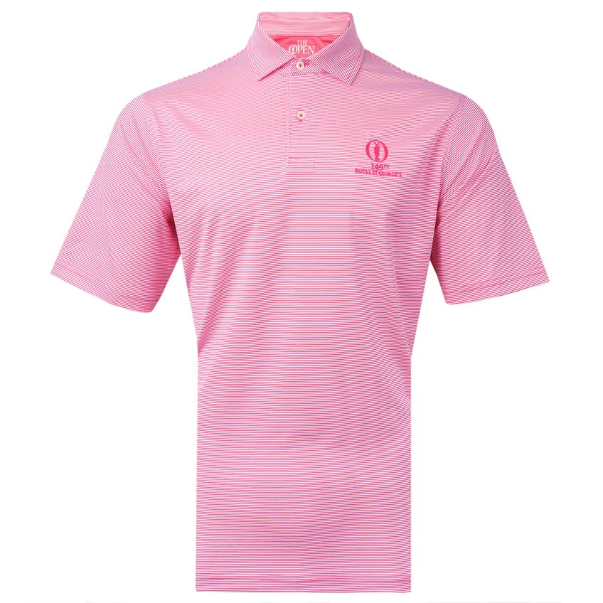 149th Royal St George's Fairway & Greene Striped Polo Shirt - Red 0