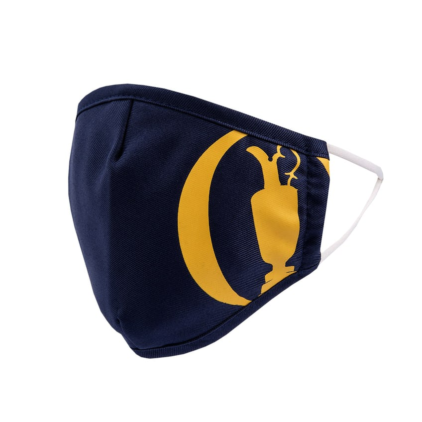 The Open Face Mask - Navy and Yellow 0