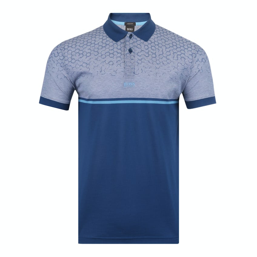 Commemorative 150th Open BOSS Polo Shirt - Blue and Grey 0