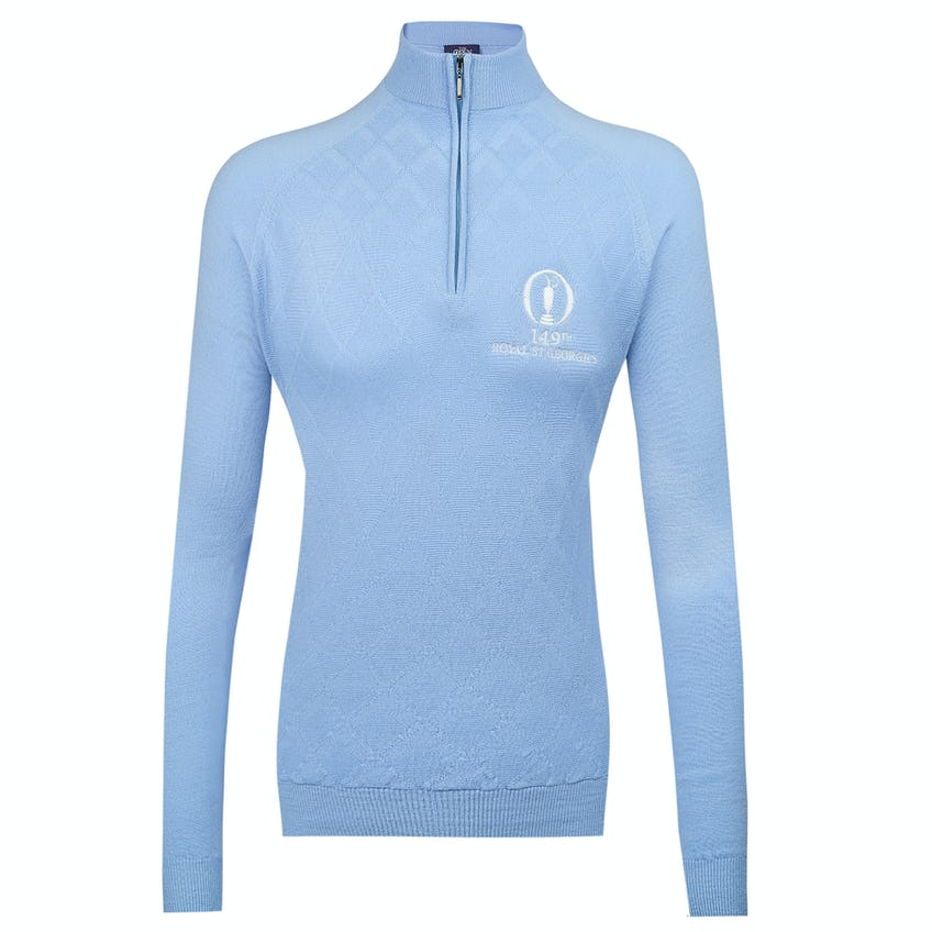 149th Royal St George's Glenbrae 1/4-Zip Sweater - Light Blue 0