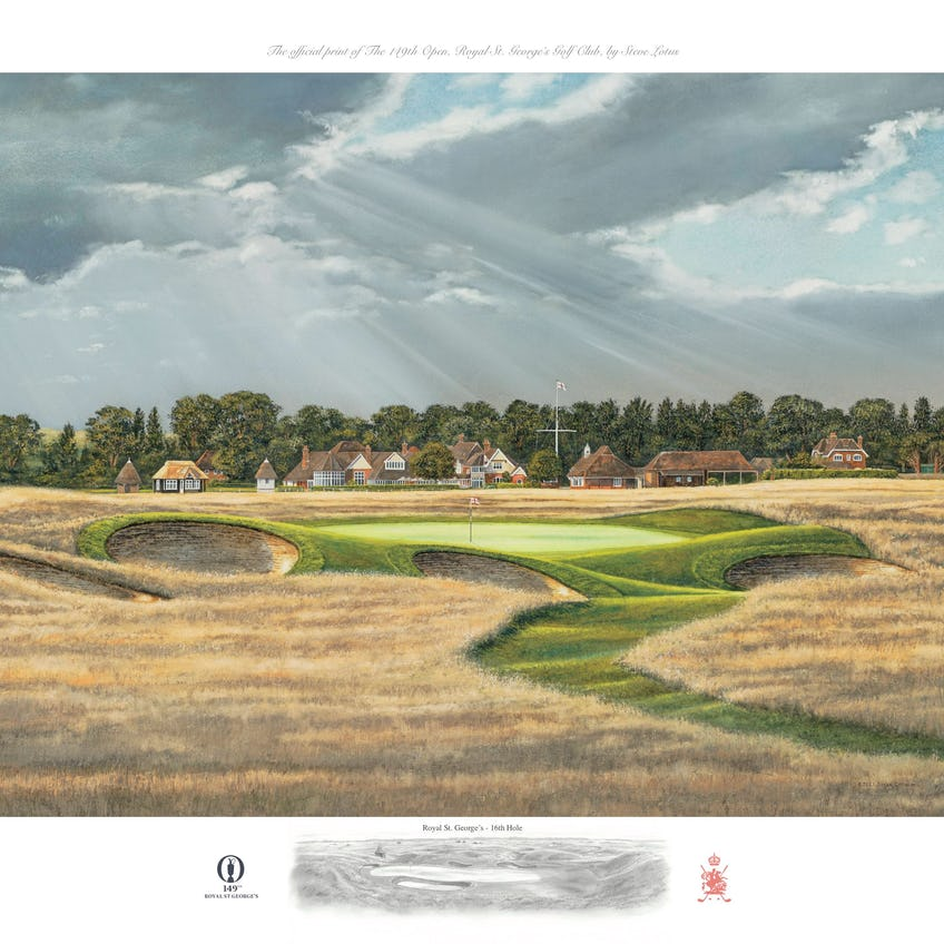 149th Royal St George's Open Championship Lithographic Print 0