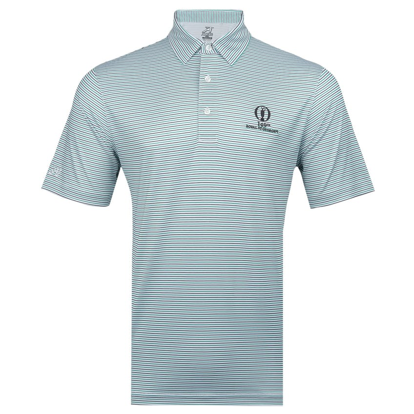 149th Royal St George's Striped Polo Shirt - Green, Black and White 0