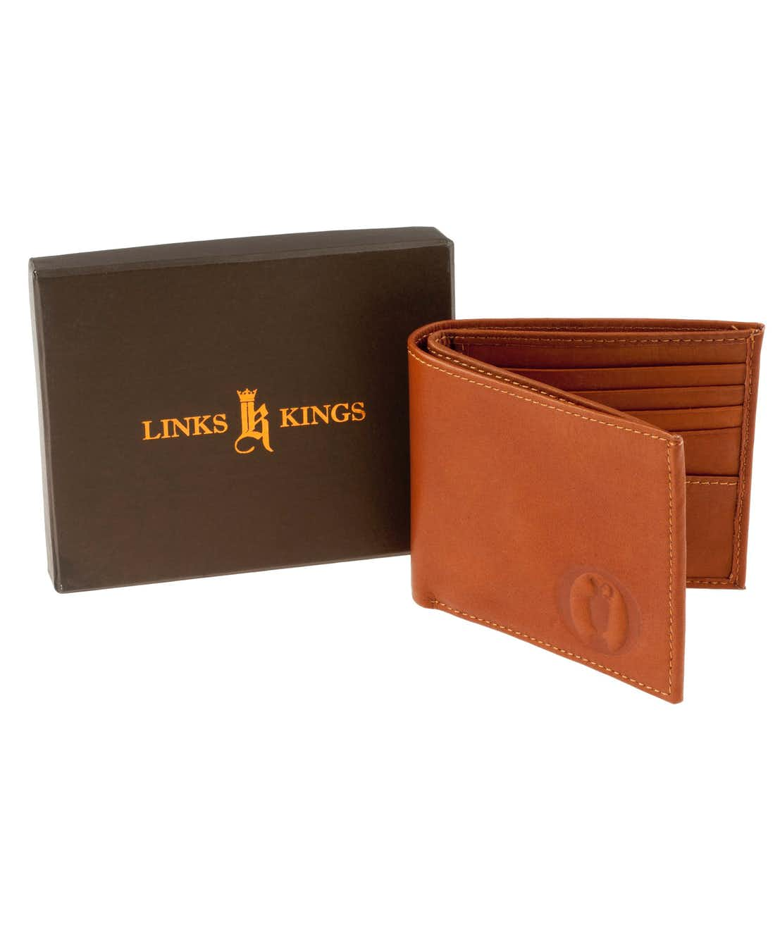 The Open Links & Kings Classic Folding Wallet - Brown