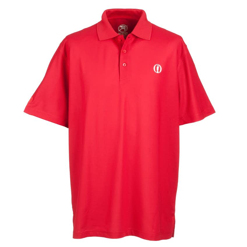The Open Plain Polo - Red