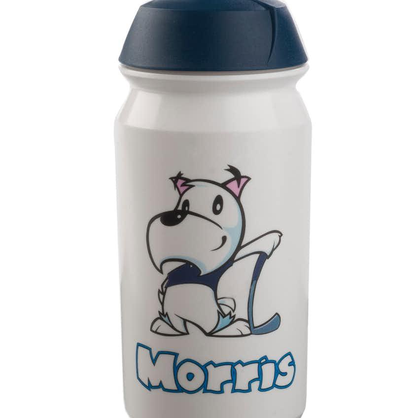 Morris the Mascot 500ml Water Bottle - White