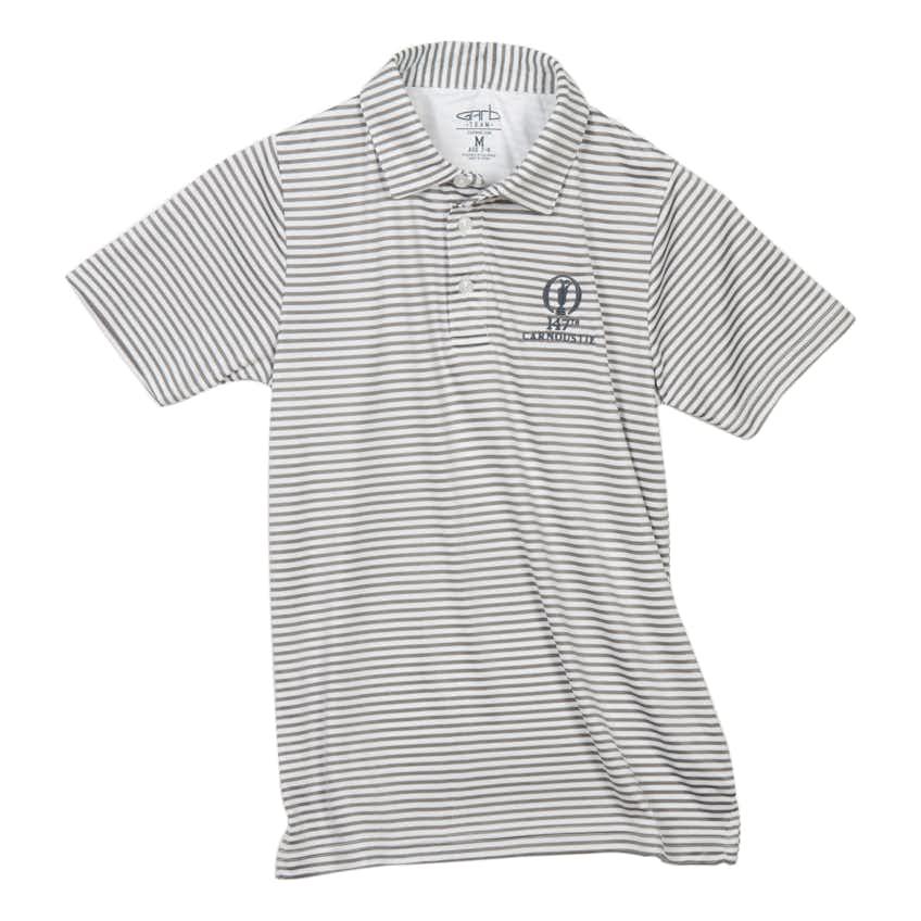 147th Carnoustie Children's Polo Stripe - Grey and White