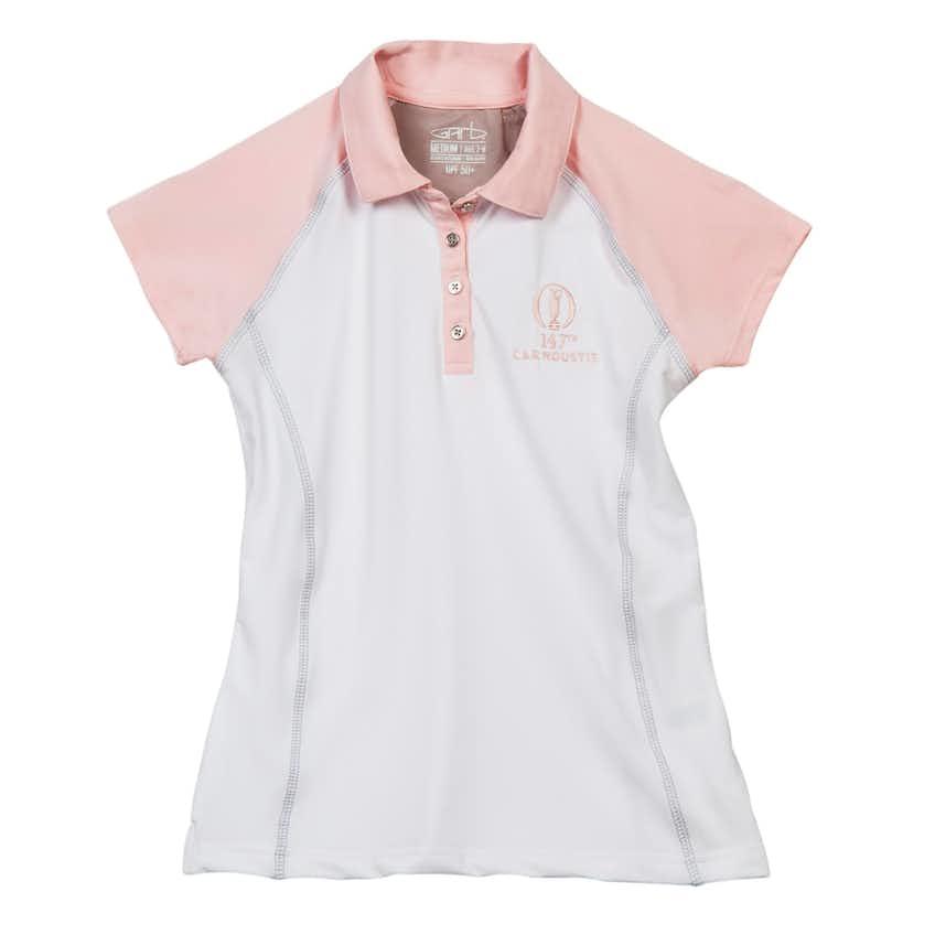 147th Carnoustie Children's Plain Polo - White
