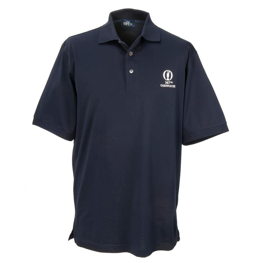 147th Carnoustie Marbas Plain Polo - Blue