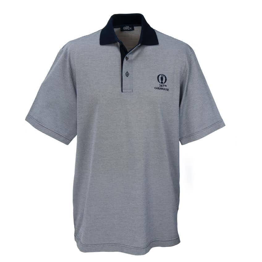 147th Carnoustie Marbas Patterned Polo - Blue