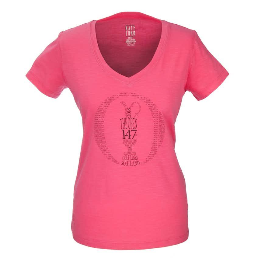 147th Carnoustie Crew-Neck T-Shirt - Pink
