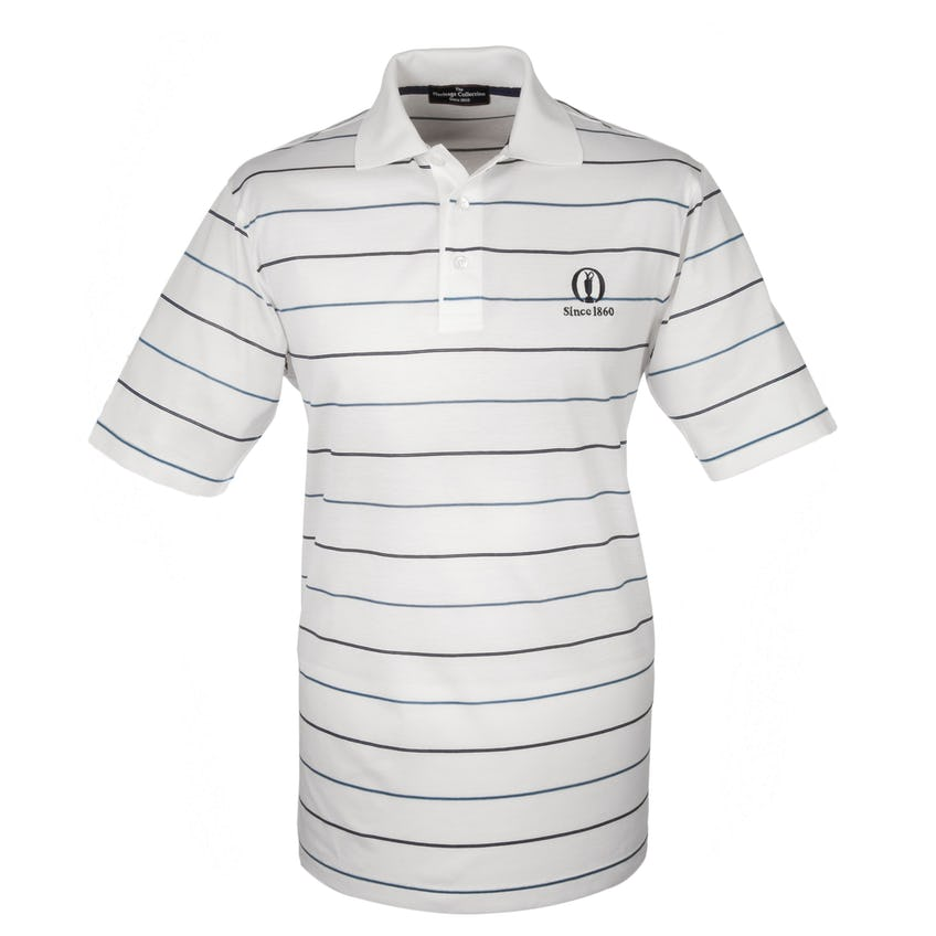 Heritage Since 1860 Striped Polo - White