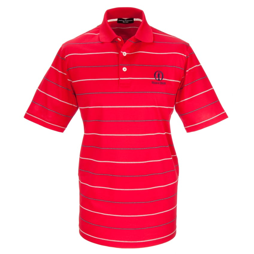 Heritage Since 1860 Striped Polo - Red