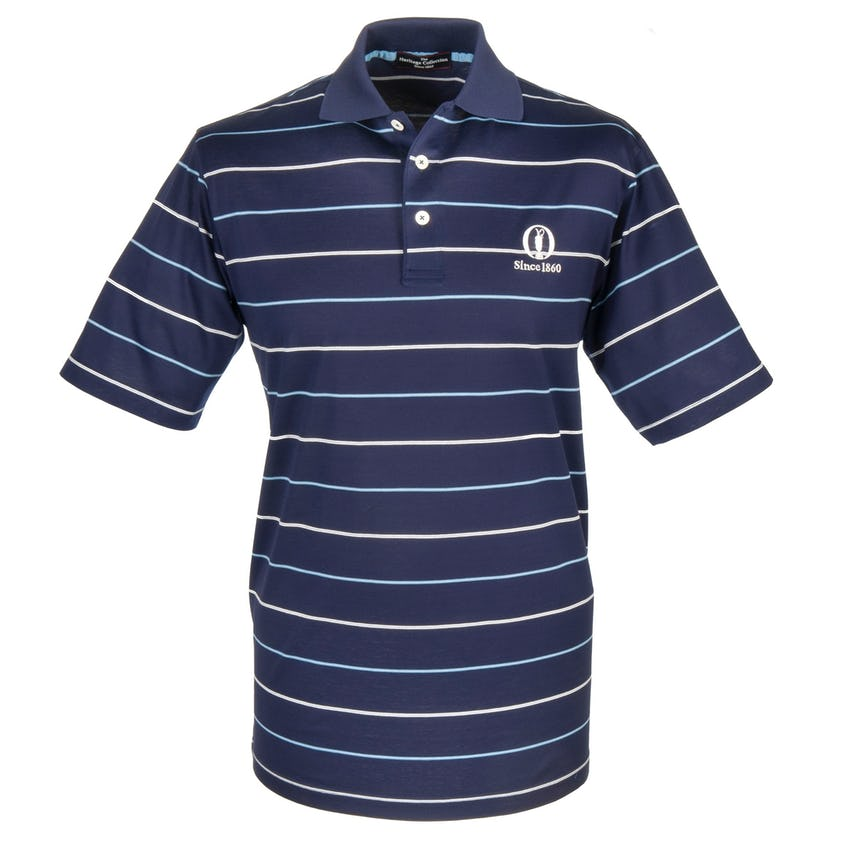 Heritage Since 1860 Striped Polo - Blue