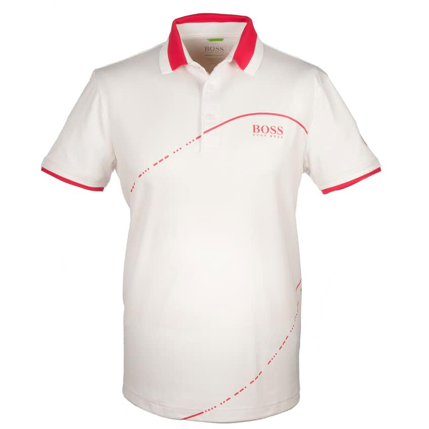 The Open BOSS Plain Polo - White