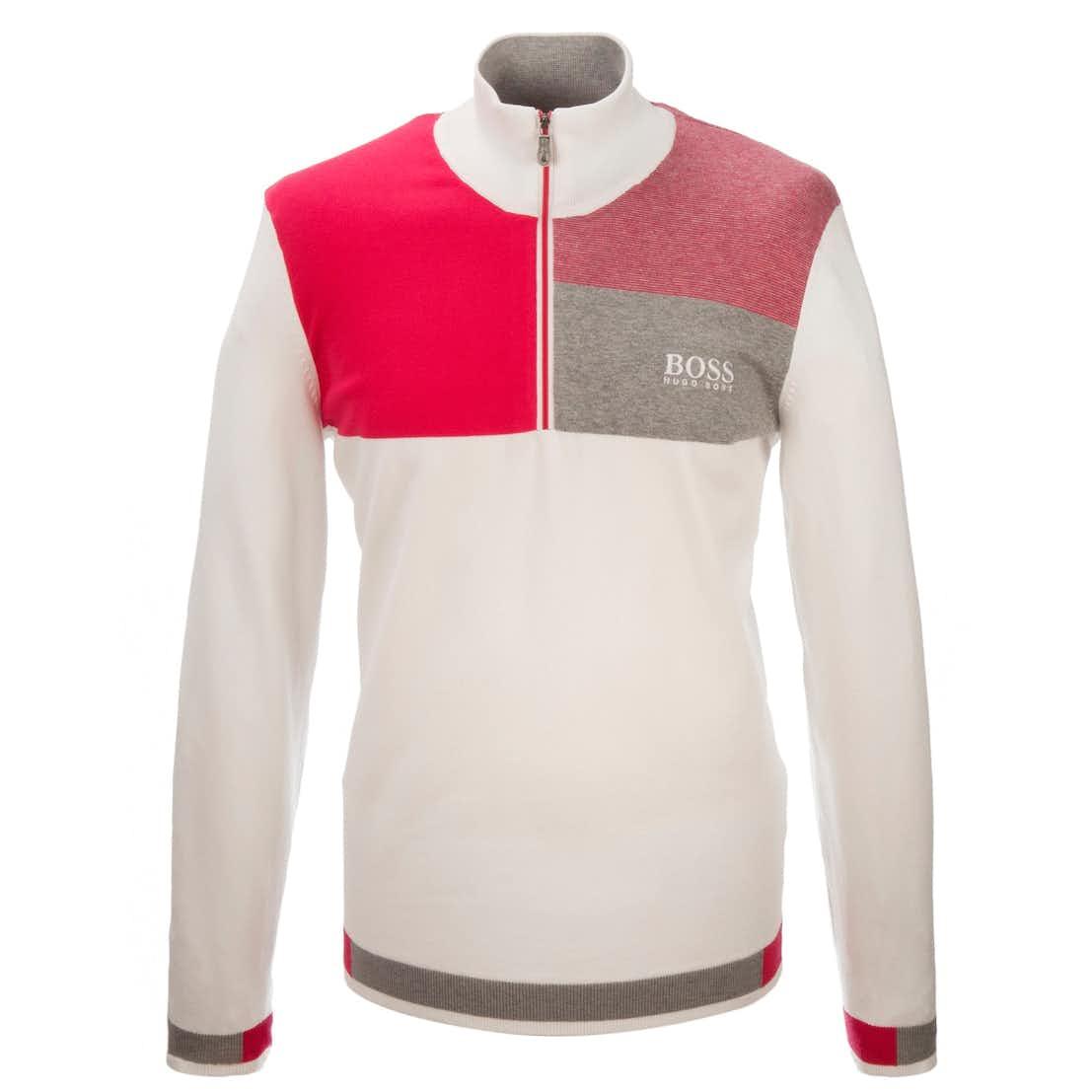 The Open BOSS 1/4-Zip Sweater - White