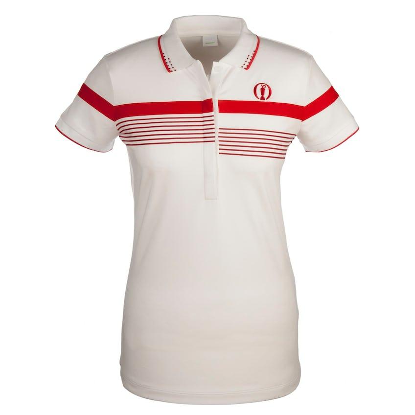 The Open BOSS Striped Polo - White 0