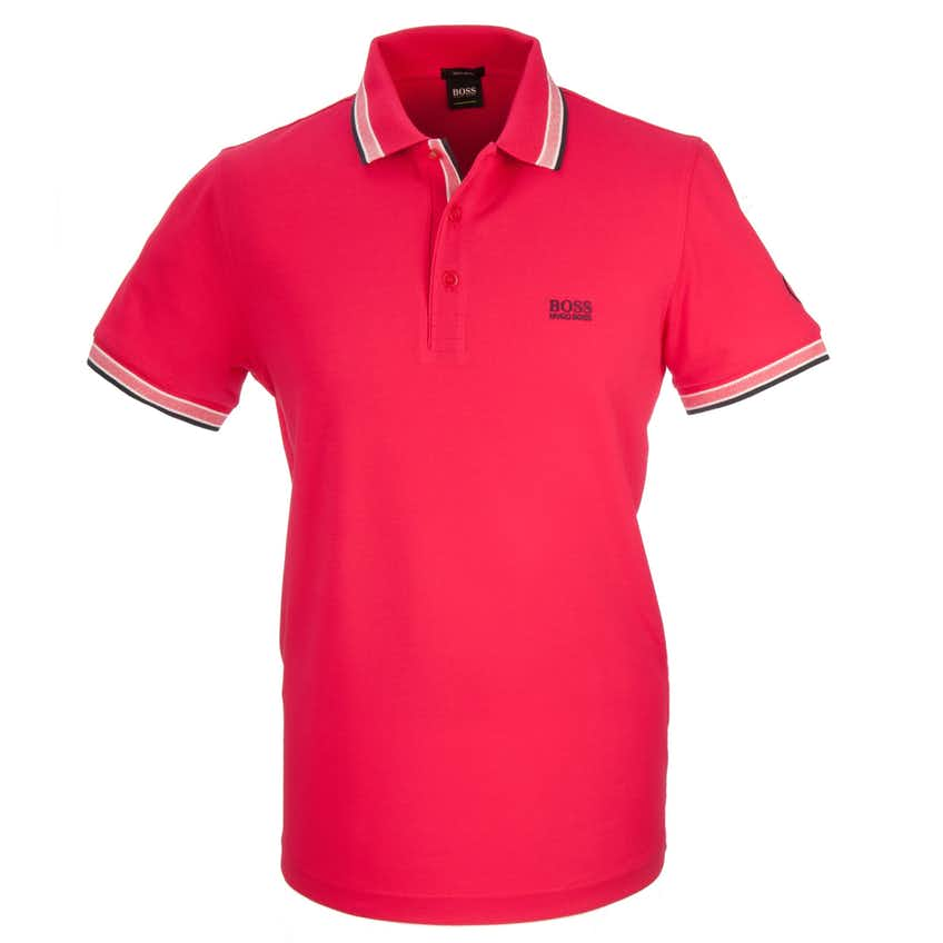 The Open BOSS Plain Polo - Red