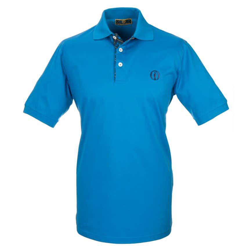 Tartan Collection Plain Polo - Blue