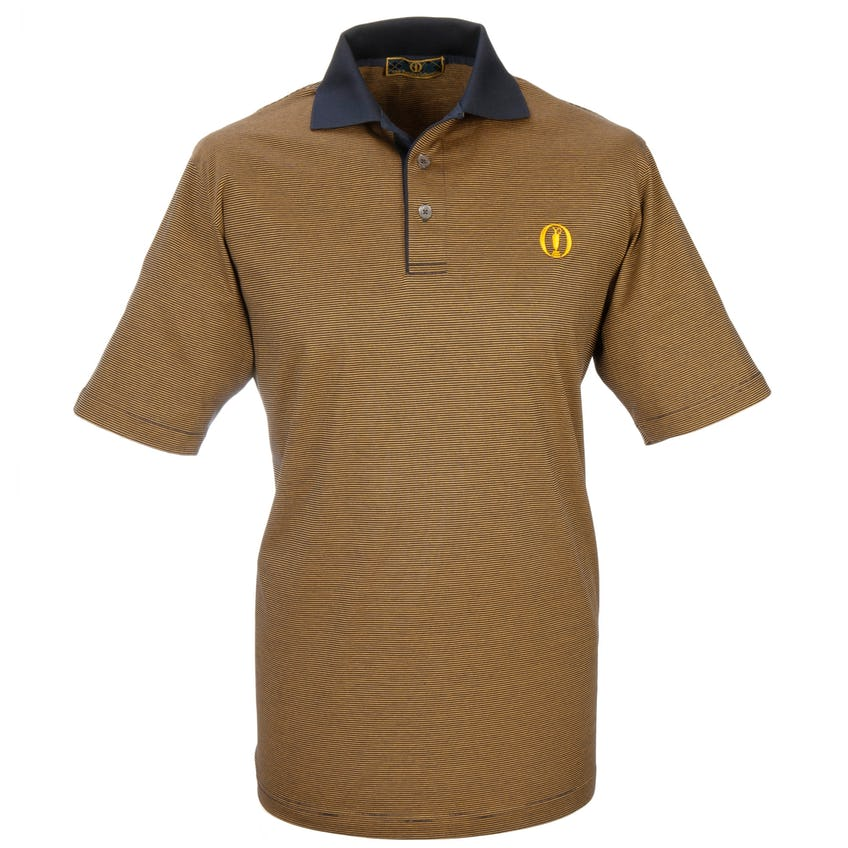 Tartan Collection Striped Polo - Gold 0