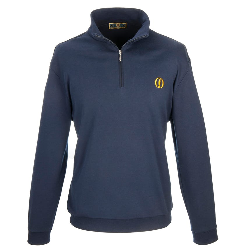 The Open 1/4-Zip Layer Sweater - Blue 0