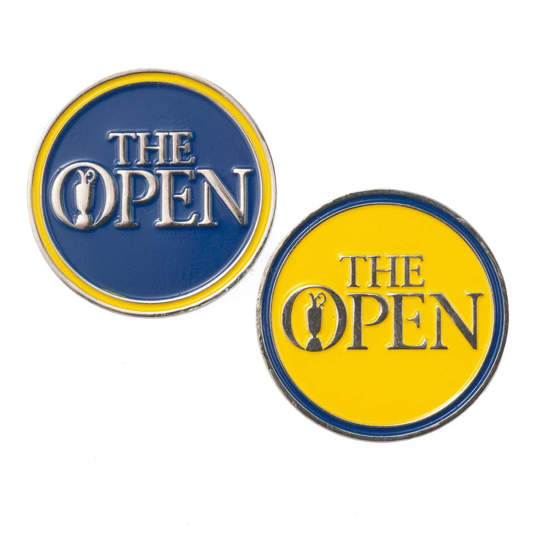 The Open Two-Sided Ball Marker - Blue and Yellow