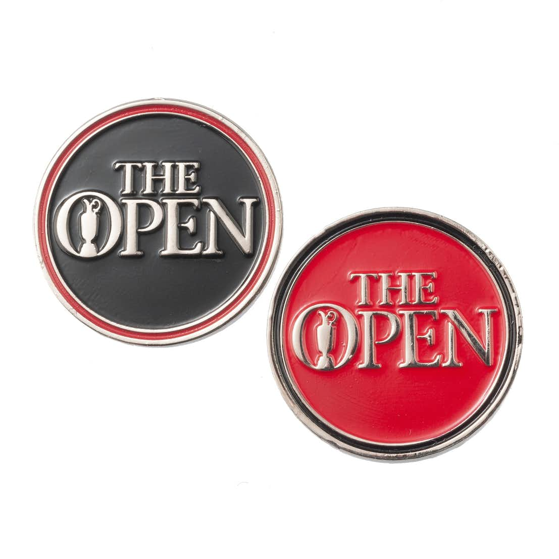 The Open Two-Sided Ball Marker - Red and Black