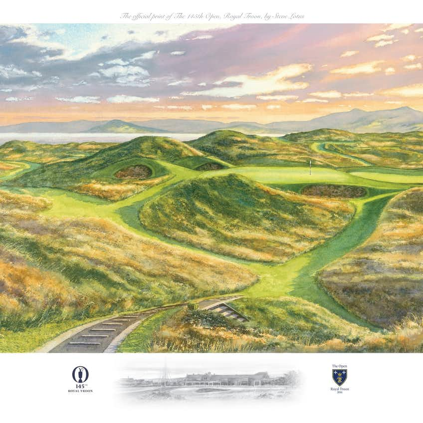 145th Royal Troon Open Lithograph Print
