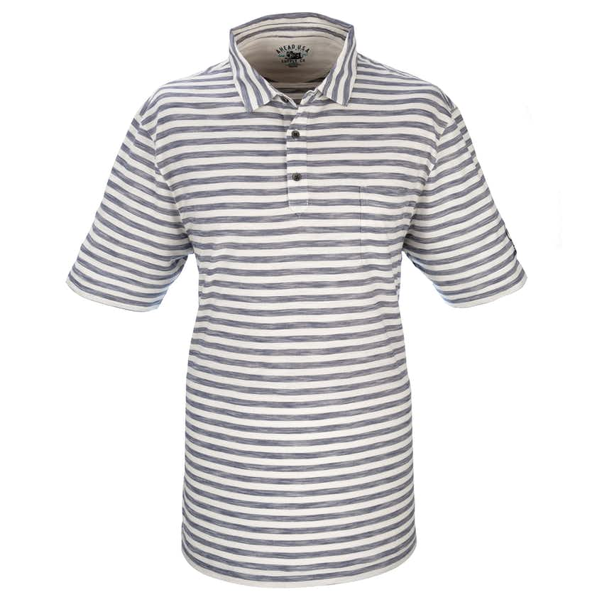 147th Carnoustie Plain Polo - Blue and White