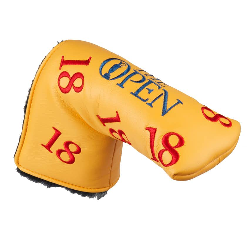 The Open Scattered 18 Putter Cover - Yellow