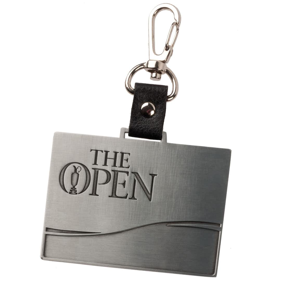 The Open Stainless Steel Bag Tag - Silver