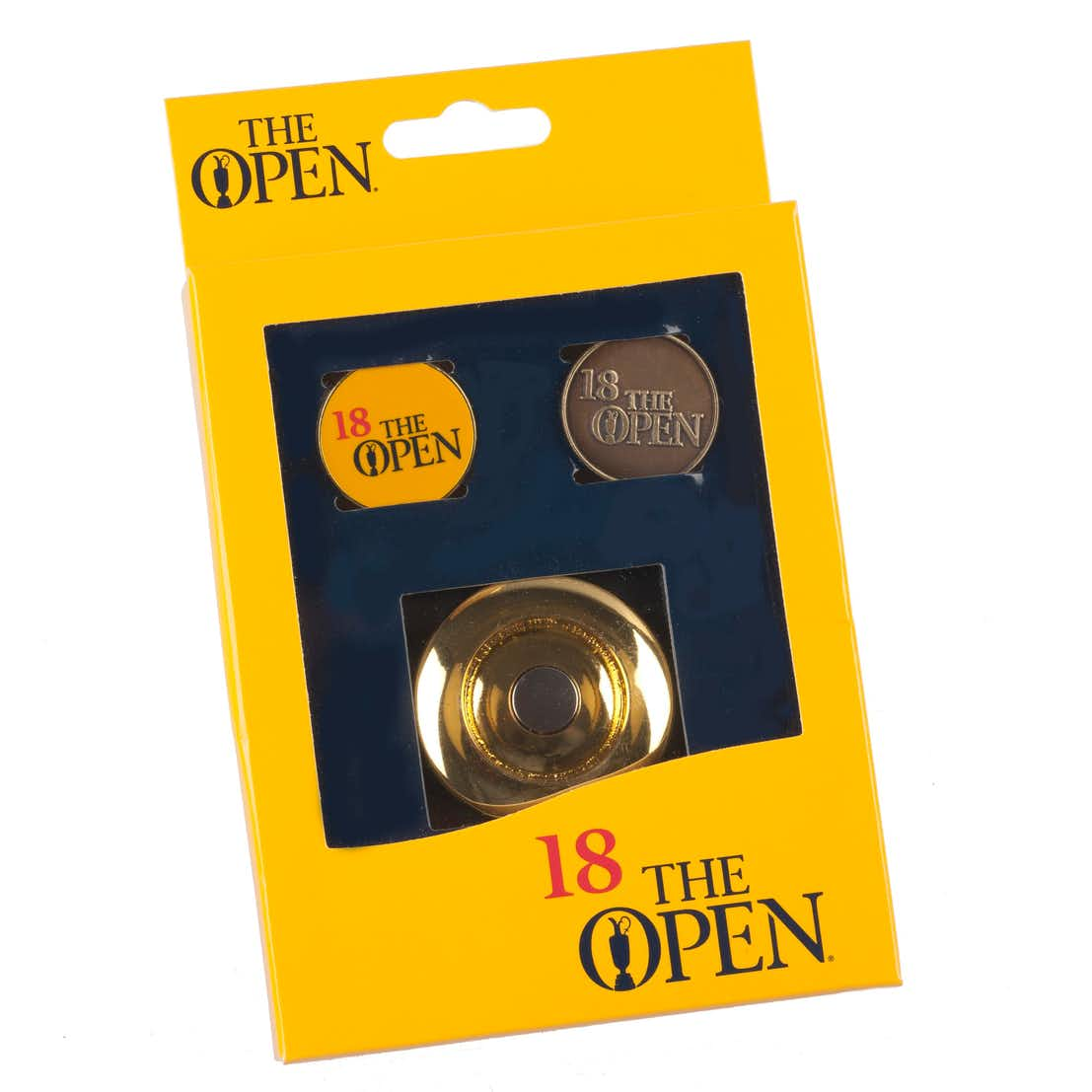 The Open Three-Piece Ball Marker Gift Set - Yellow
