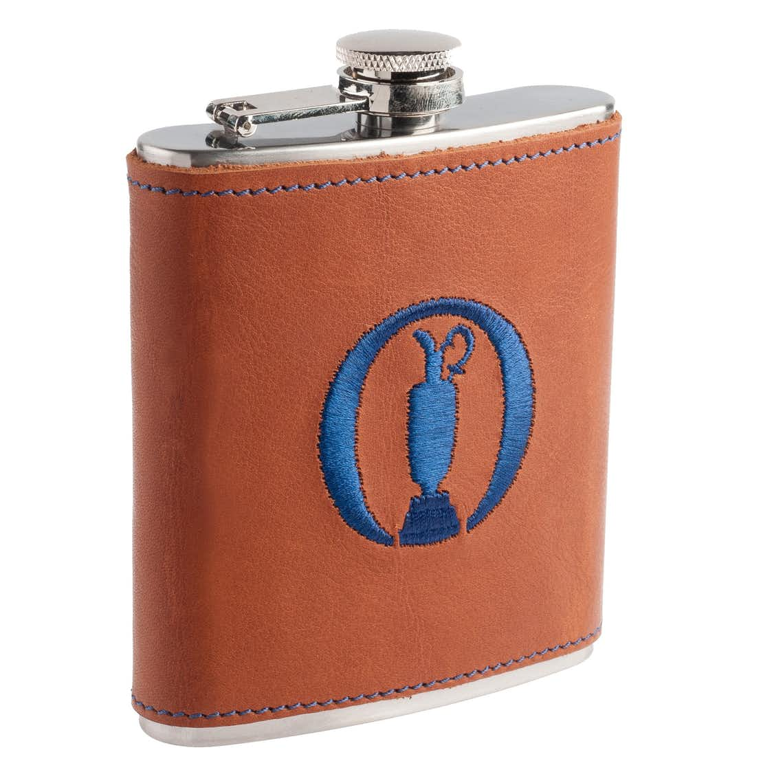 The Open Links & Kings Hip Flask - Brown