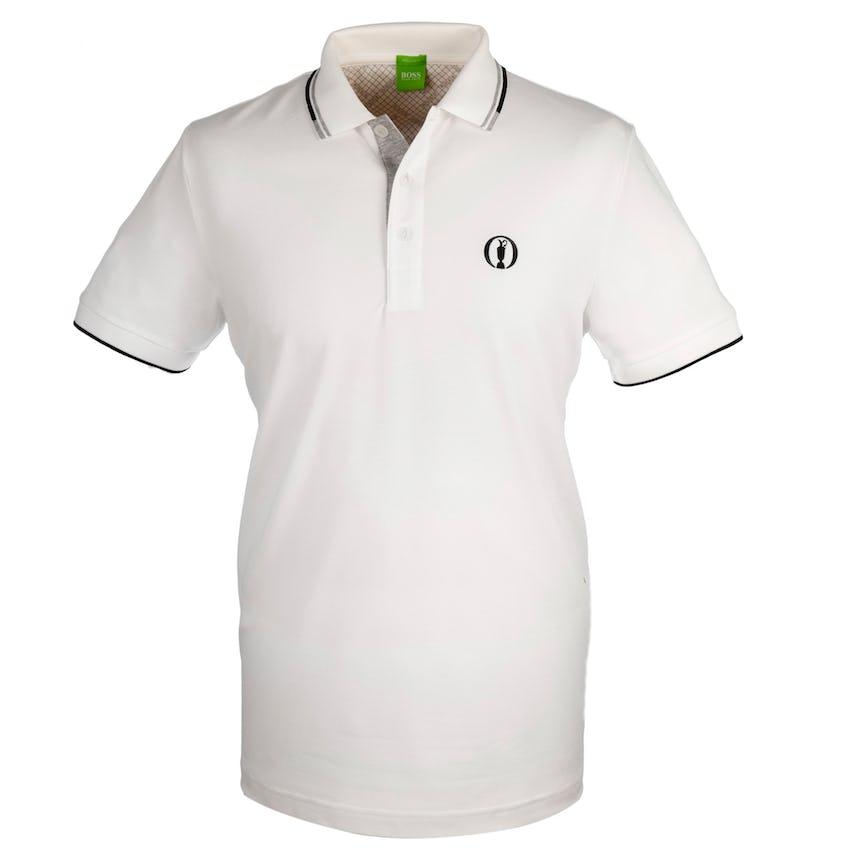 The Open BOSS Paddy Pro Plain Polo - White 0