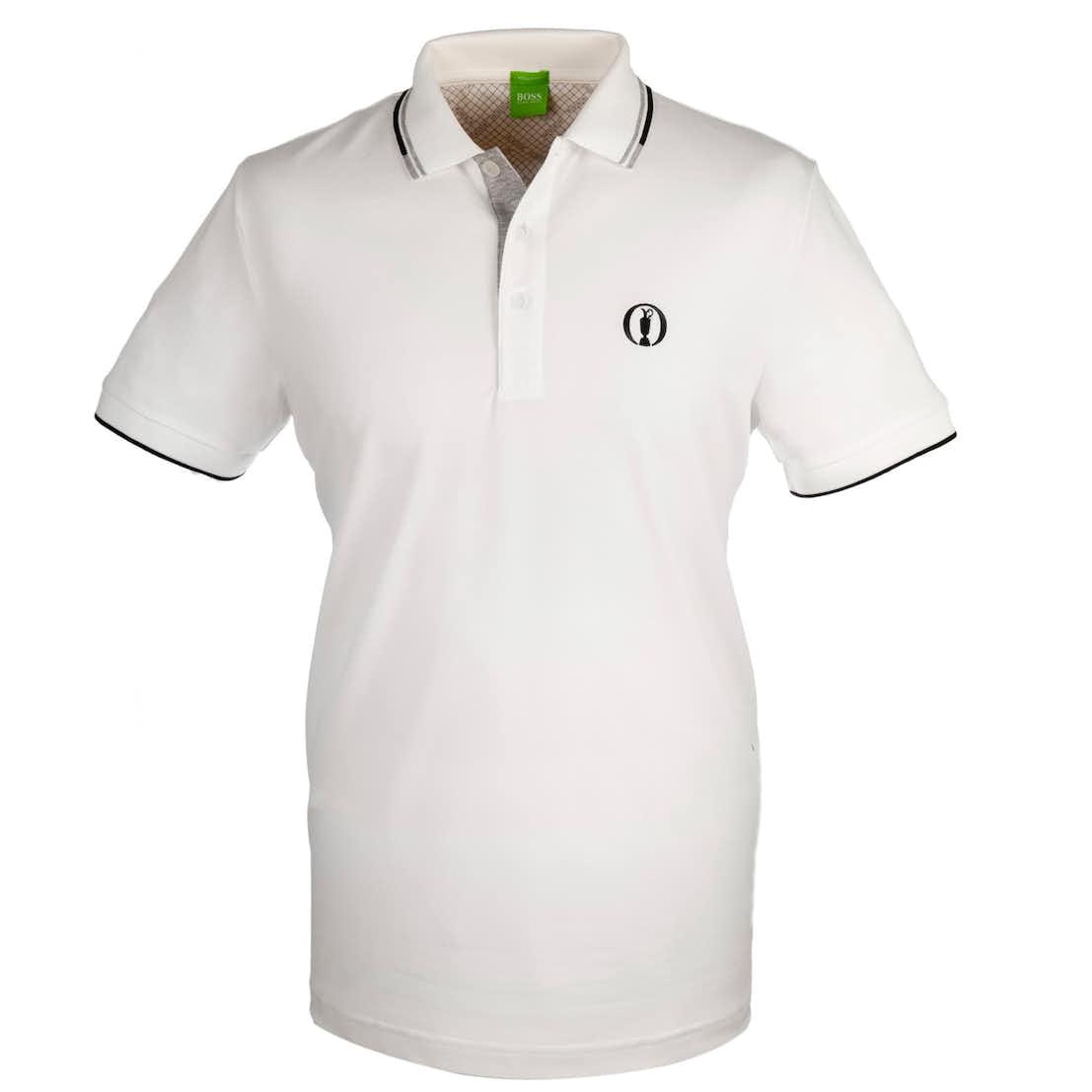 The Open BOSS Paddy Pro Plain Polo - White