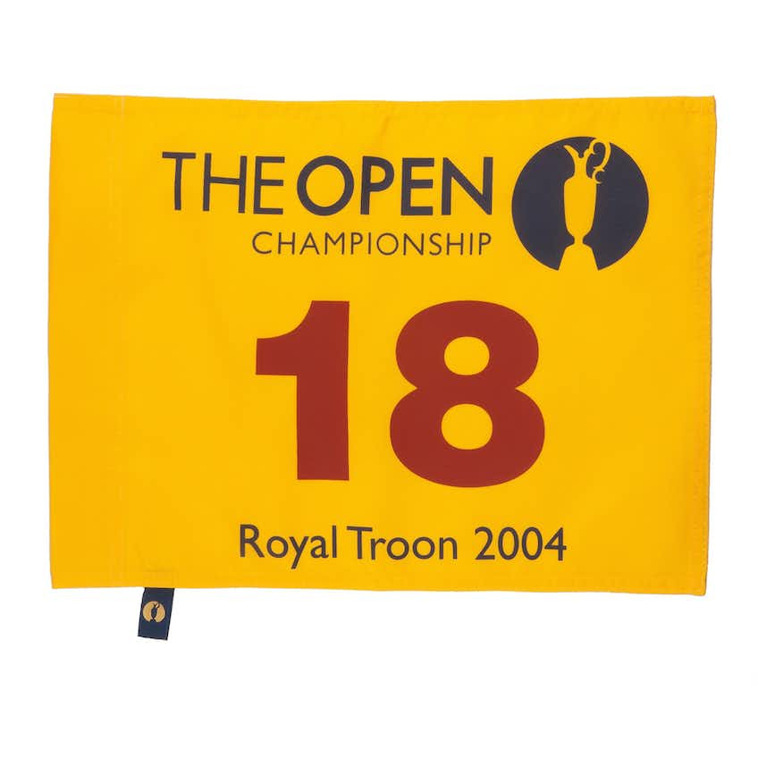 133rd Royal Troon Open Championship Pin Flag - Yellow